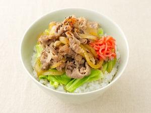 レンジ牛丼