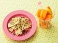 高野スナックと柿のレモン風味