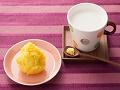 柚子ジャムきんとんとジンジャーミルク